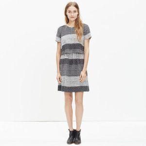 Madewell Silk Two-Piece Dress in Hashtag Stripe